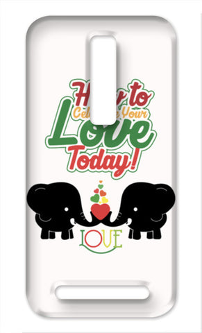 Celebrate love with elephants Asus Zenfone 2 Cases | Artist : Designerchennai