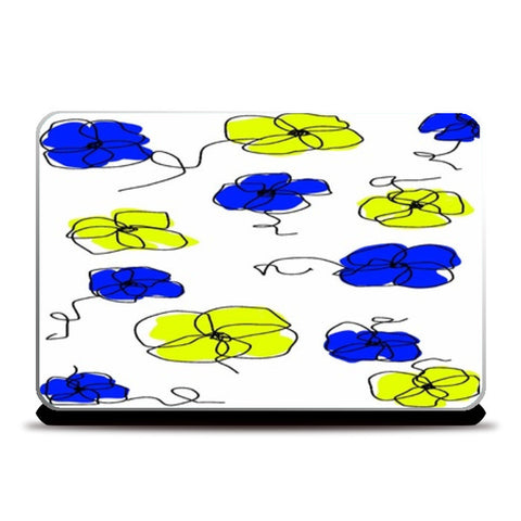 Laptop Skins, abstract floral Laptop Skins | Artist : Rutubala Bhogshetti, - PosterGully