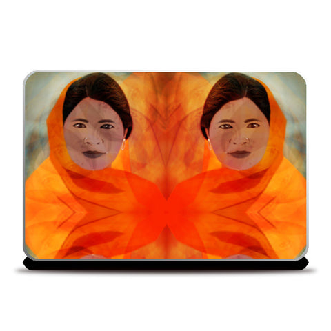 Becoming The Fire - Indian Woman Laptop Skins | Artist : Rameshwar Chawla