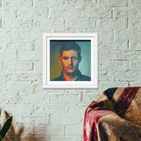 Premium Square Italian Wooden Frames, Dean Winchester Premium Square Italian Wooden Frames | Artist : Delusion, - PosterGully - 6
