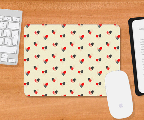 Mousepad, Hearts Pattern Mousepad | Artist : Tanvi C, - PosterGully