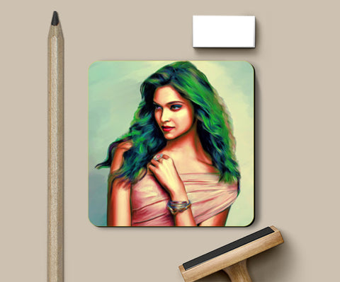 PosterGully Coasters, Deepika Padukone Coasters | Artist : Delusion, - PosterGully