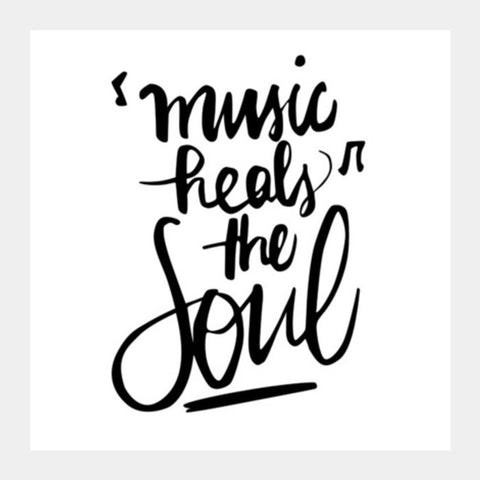 Music Heals The Soul Square Art Prints | Artist : Garima Shukla