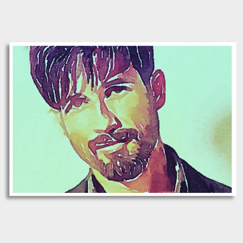 Shahid Kapoor Giant Poster | Artist : Delusion