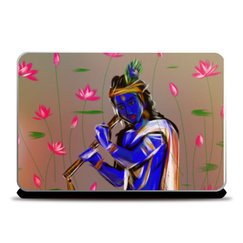Krishna is the god of compassion, tenderness, and love in Hinduism.  Laptop Skins | Artist : amit kumar