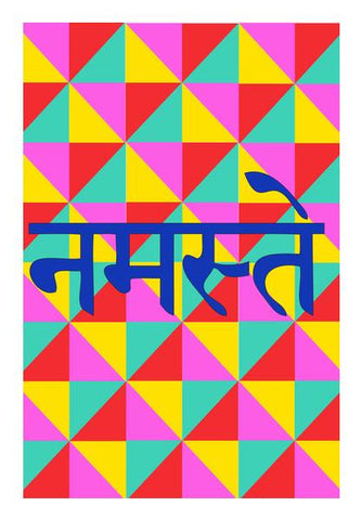 PosterGully Specials, NAMESTE 2  Wall Art | Artist : DISHA BHANOT, - PosterGully