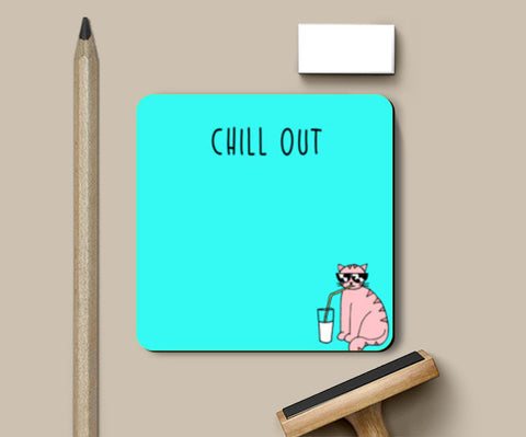 Chill Out Cat Coasters | Artist : Anjali Nilakantan
