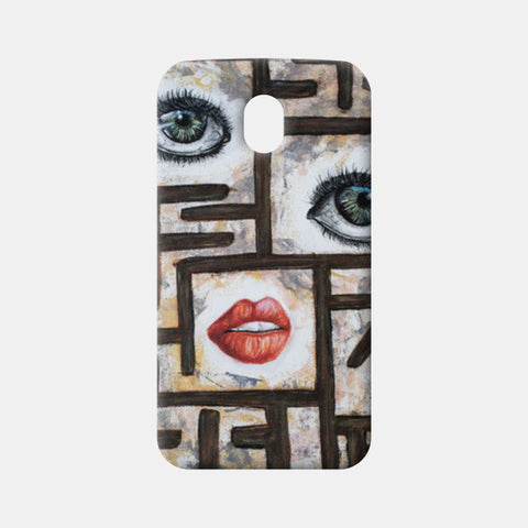 Maze behind my face Moto G3 Cases | Artist : Anitha Vallikunnel
