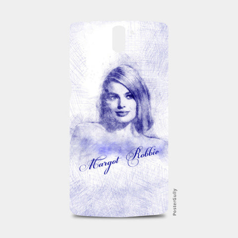 Margot Robbie pen sketch One Plus One Cases | Artist : Abhishek Faujdar