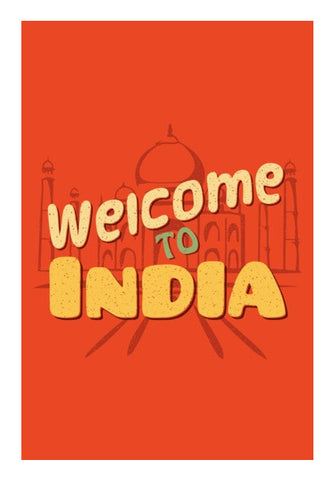 Wall Art, Welcome to India retro Artwork | Artist : Abhishek Kanungo, - PosterGully