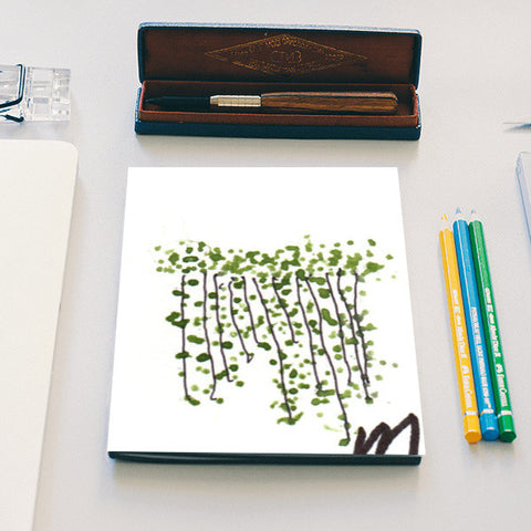 Green Curtain Notebook | Artist : Manas Arvind