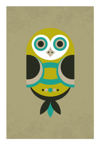 Unique geometric owl on dark Wall Art | Artist : Designerchennai