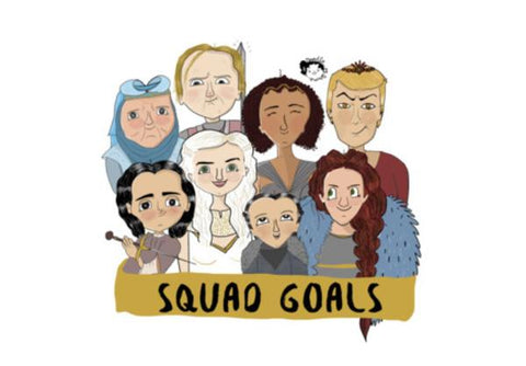 PosterGully Specials, GOT squad goals Wall Art  | Artist : Doodleodrama, - PosterGully