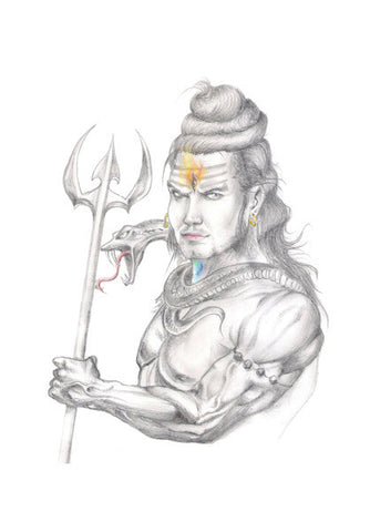 Lord Shiva Rishabh Dev Sharma Wall Art | Artist : Rishabh Dev Sharma
