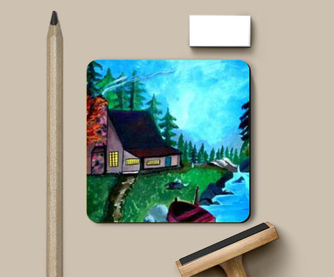 The beauty of nature painting Coasters | Artist : Pallavi Rawal