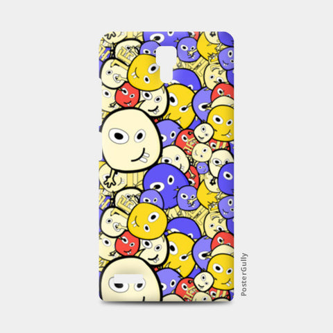 Doodle cartoon characters  Redmi Note Cases | Artist : Designerchennai