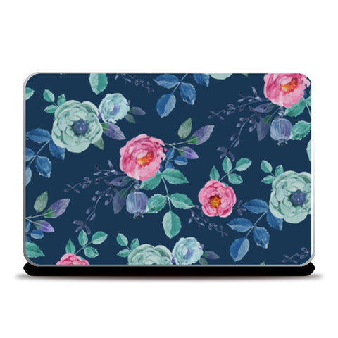 Painted Floral Pattern Laptop Skins | Artist : Creative DJ