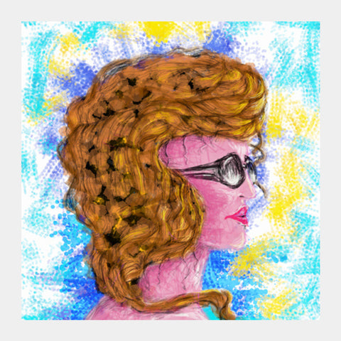 RADIANCE #beauty #girl #summer #colorful #woman #people #painting #sketches Square Art Prints | Artist : Jessica Maria