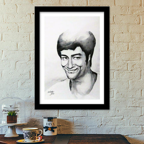 Bruce Lee The Big Boss Premium Italian Wooden Frames | Artist : Sunil Angral