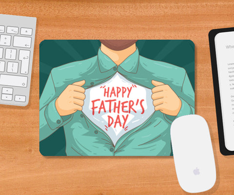 Father's Day On Chest | #Father's Day Special  Mousepad | Artist : Creative DJ