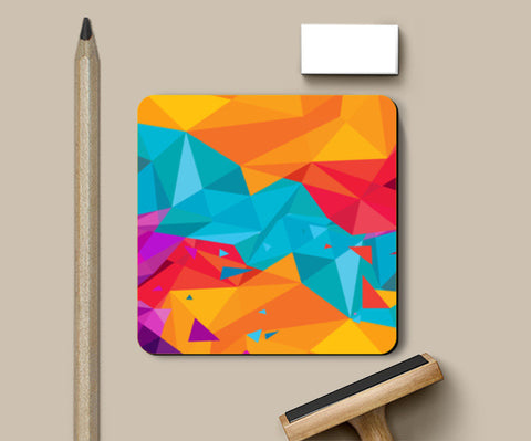 Color Triangle Coasters | Artist : Manju Nk