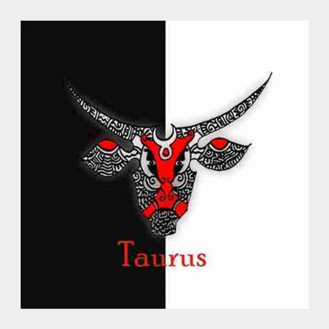 Square Art Prints, Taurus Zodiac Zenscrawl Square Art Prints | Artist : Meghnanimous, - PosterGully