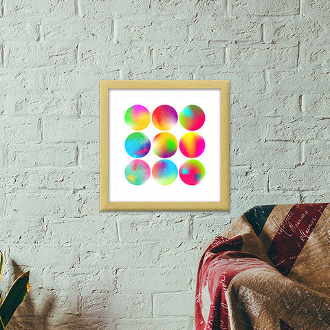 Premium Square Italian Wooden Frames, Psychedelia Premium Square Italian Wooden Frames | Artist : Sanket R, - PosterGully - 1