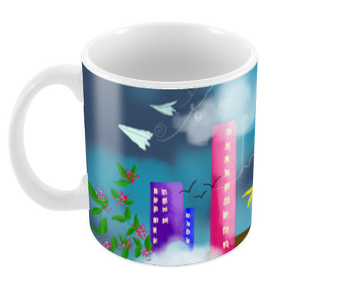 Head in the Clouds Coffee Mugs | Artist : Vaishnavi Agarwal