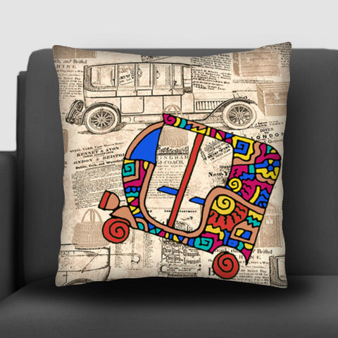 Vintage Auto Zenscrawl Cushion Covers | Artist : Meghnanimous