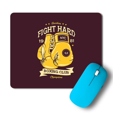 Boxing Club Fight Hard Artwork Mousepad