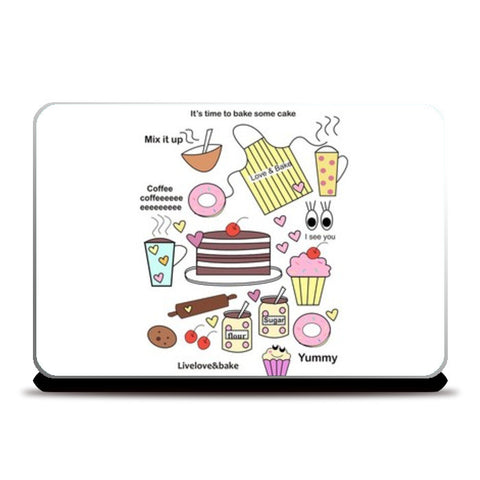 baking = happiness Laptop Skins | Artist : mytablecreations