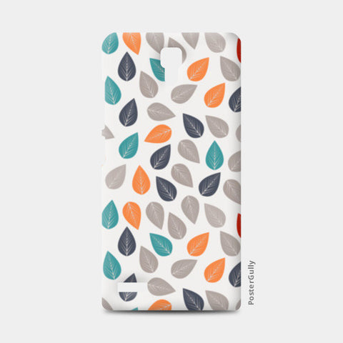 Seamless pattern with multicolored leaf on light background Redmi Note Cases | Artist : Designerchennai