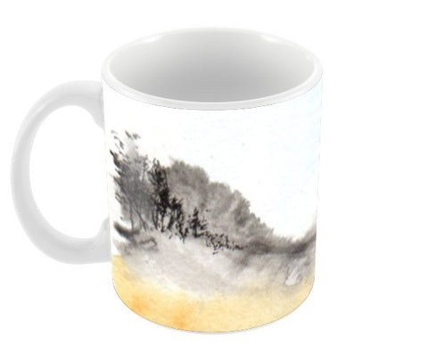 Hillside - Black & Yellow Coffee Mugs | Artist : Manas Arvind