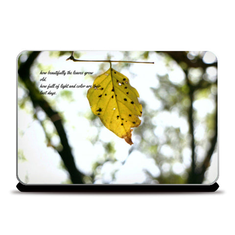 yellowLeaf Laptop Skins | Artist : Surabhi Jha