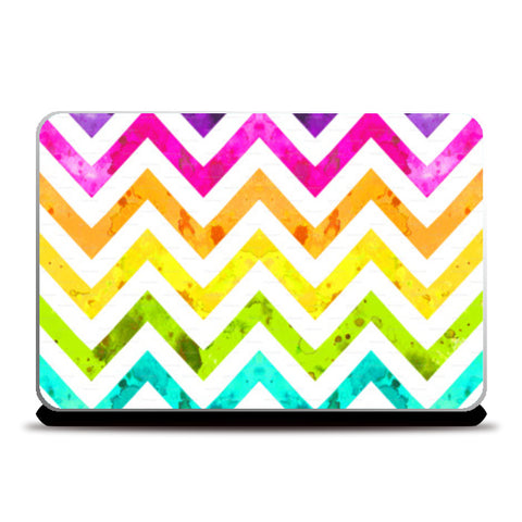 rainbow chevrons Laptop Skins | Artist : Fariya Arts