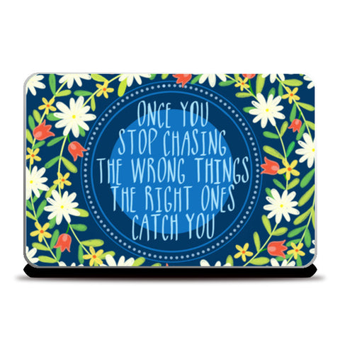 MOTIVATIONAL QUOTE Laptop Skins | Artist : Paper Pankh