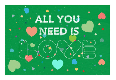 Love Typography With Green Art PosterGully Specials