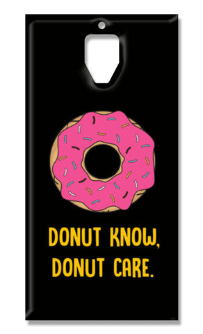 DONUT KNOW DONUT CARE OnePlus 3-3T Cases | Artist : Manju Nk