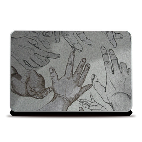 hands for help Laptop Skins | Artist : amit kumar