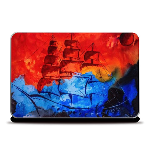Navy Laptop Skins | Artist : kartikey sharma