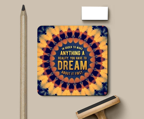 Motivational Quote Coasters | Artist : Delusion