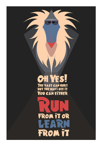 Rafiki Inspirational - Lion King Wall Art | Artist : Rohit Malhotra