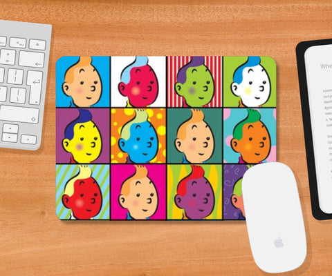 tin tin series Mousepad | Artist : Fariya Arts