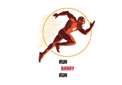 RUN BARRY RUN, THE FLASH, HARRISON WELLS QUOTES, DC COMICS WALL ART Wall Art  | Artist : Nihal Dad Khan