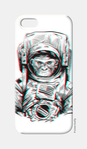 3D Space Monkey iPhone 5 Cases | Artist : Pulkit Taneja