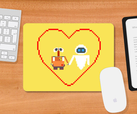 Mousepad, Wall-e and Eve Pixel Art Mousepad | Artist : marika, - PosterGully
