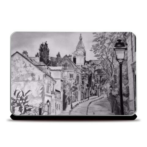 Laptop Skins, Paris Sketch Laptop Skin | Artist: Pritika Uppal, - PosterGully