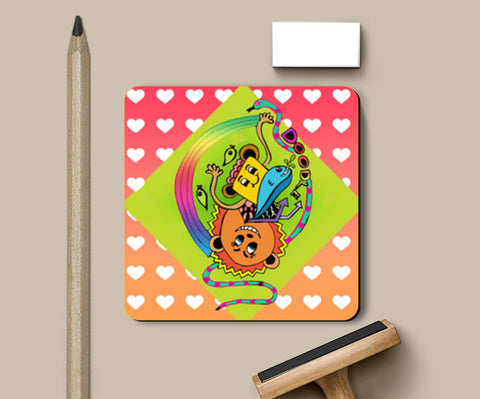 Doodle Luv Coasters | Artist : Design_Dazzlers