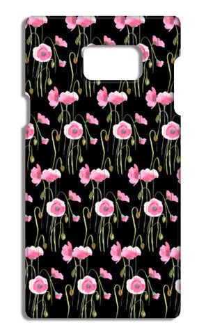 Abstract Pink Poppies Spring Floral Pattern  Samsung Galaxy Note 5 Cases | Artist : Seema Hooda