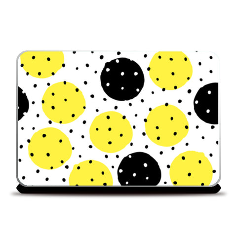 Dots Spreaded On Large dots Laptop Skins | Artist : Creative DJ